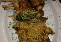Rack of lamb and risotto tapa